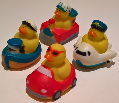 Transportation Rubber Duckies - Pack of 4 Ducks