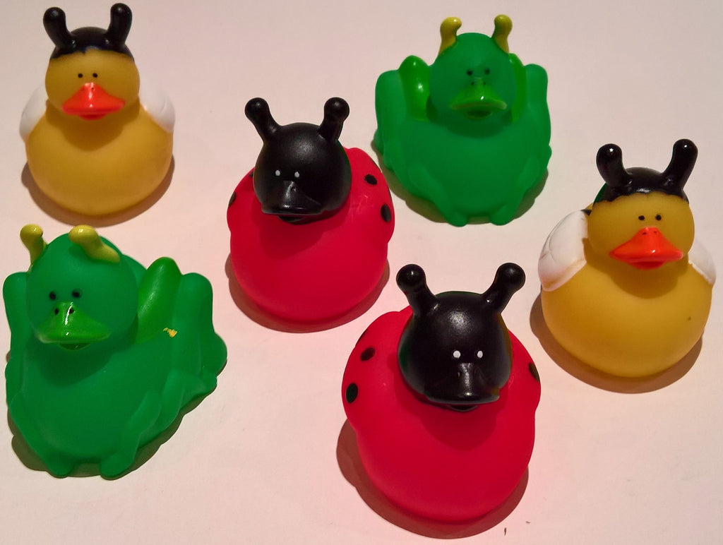 Insect Rubber Duckies - Pack of 12 Ducks