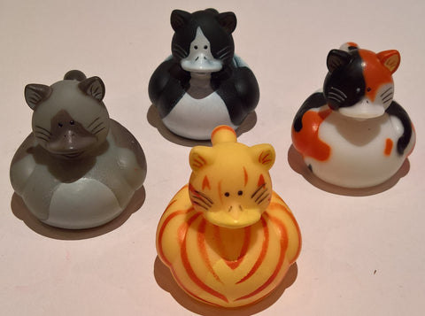 Cat Rubber Duckies - Pack of 4 Ducks