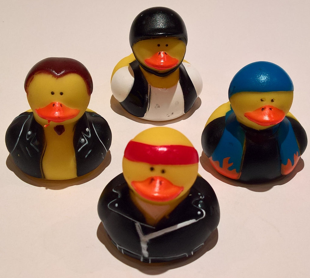 Biker Rubber Duckies - Pack of 4 Ducks