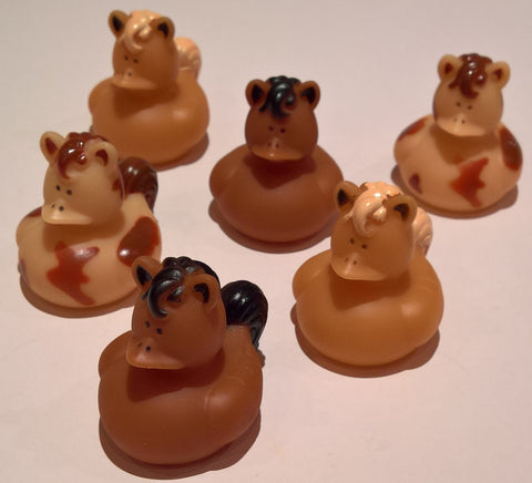 Horse Rubber Duckies - Pack of 6 Ducks