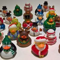 Christmas Rubber Ducky Assortment - Pack of 50 Ducks