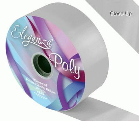50mm Poly Ribbon - Silver No.24 by Eleganza - 91m (100yds)