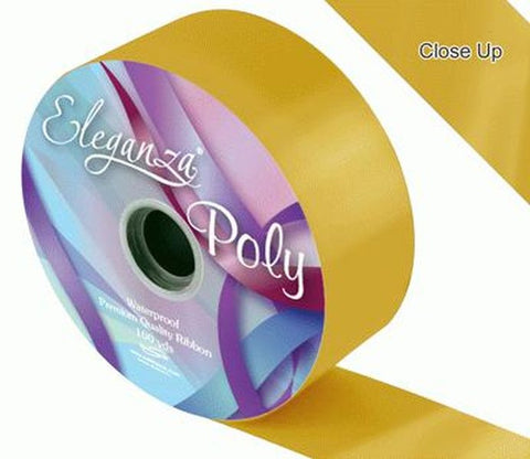 50mm Poly Ribbon - Gold No.35 by Eleganza - 91m (100yds)