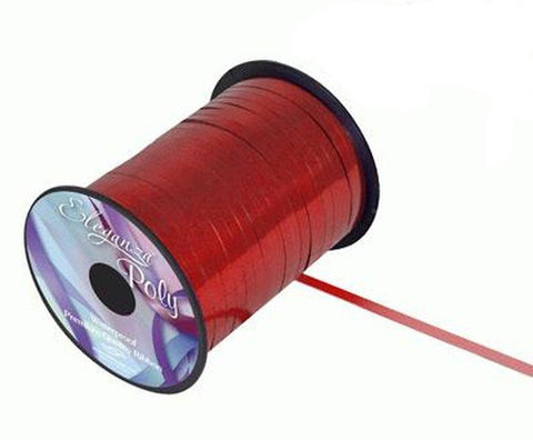 5mm Curling Ribbon - Metallic Red by Eleganza - 250yds