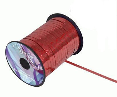 5mm Curling Ribbon - Holographic Red by Eleganza - 250yds