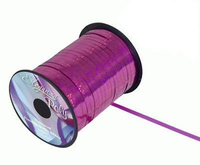 5mm Curling Ribbon - Holographic Fuchsia by Eleganza - 250yds
