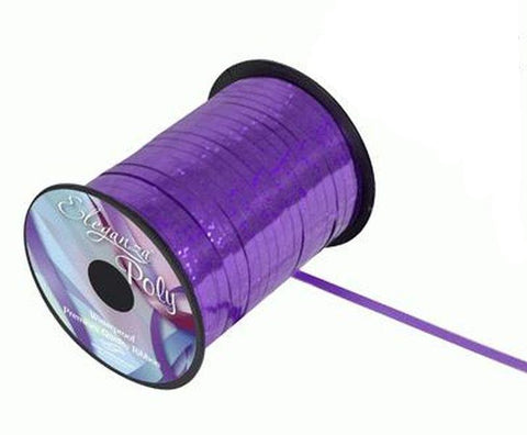 5mm Curling Ribbon - Holographic Purple by Eleganza - 250yds
