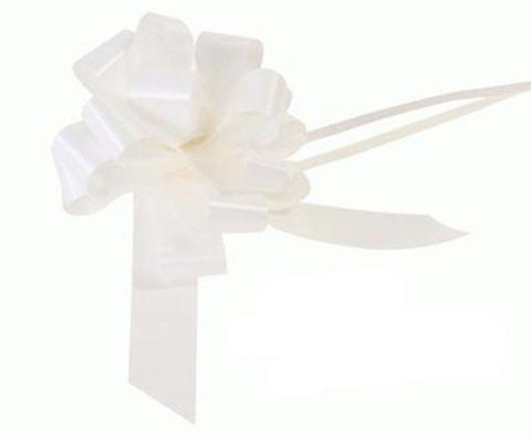 30mm Pull Bow - White No.01 by Eleganza