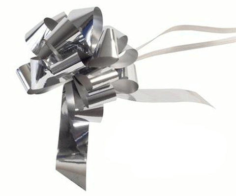 30mm Pull Bow - Metallic Silver by Eleganza