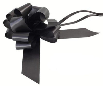50mm Pull Bow -  Black No.20 by Eleganza