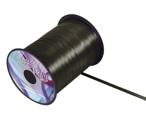 5mm Curling Ribbon -  Black No.20 by Eleganza - 500yds