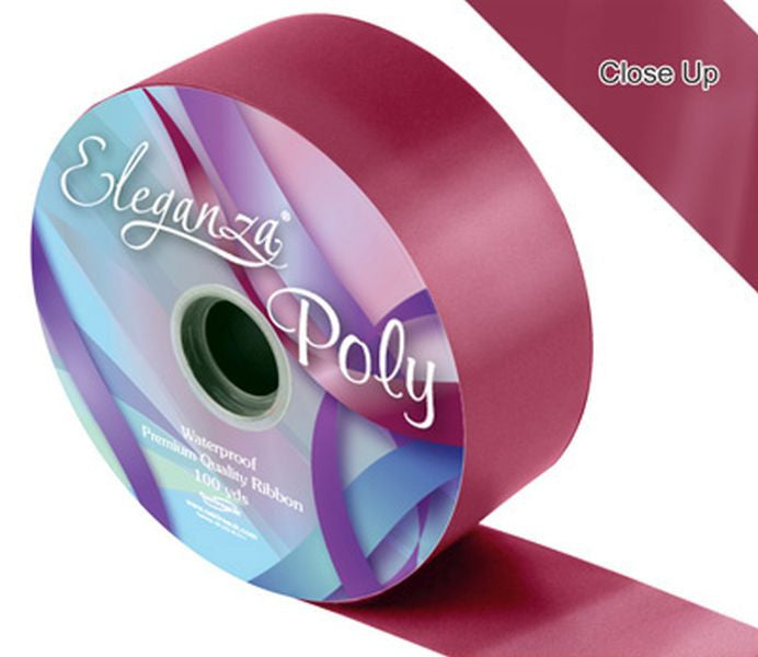 50mm Poly Ribbon - Burgundy No.17 by Eleganza - 91m (100yds)