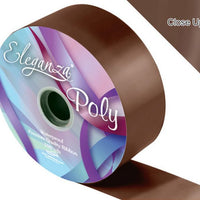 50mm Poly Ribbon - Chocolate No.58 by Eleganza - 91m (100yds)