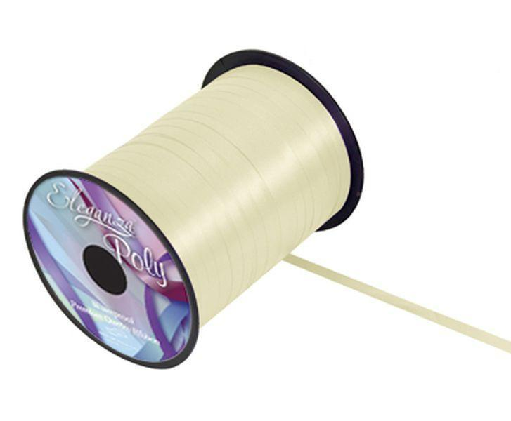 5mm Curling Ribbon - Cream No.62 by Eleganza - 500yds