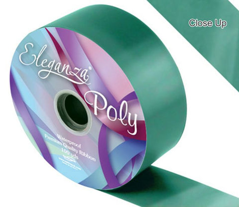 50mm Poly Ribbon - Emerald Green No.15 by Eleganza - 91m (100yds)