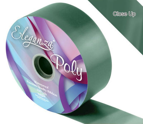 50mm Poly Ribbon - Green No.50 by Eleganza - 91m (100yds)