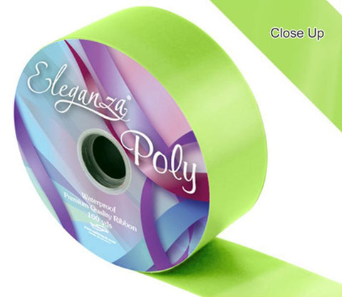 50mm Poly Ribbon - Lime Green No.14 by Eleganza - 91m (100yds)