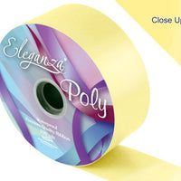 50mm Poly Ribbon - Pale Yellow No. 10 by Eleganza - 91m (100yds)