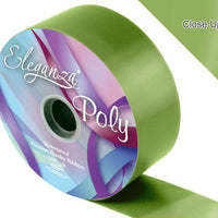 50mm Poly Ribbon - Pistachio Green No.27 by Eleganza - 91m (100yds)