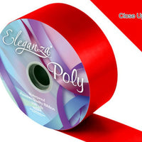 50mm Poly Ribbon - Radiant Red No.16 by Eleganza - 91m (100yds)