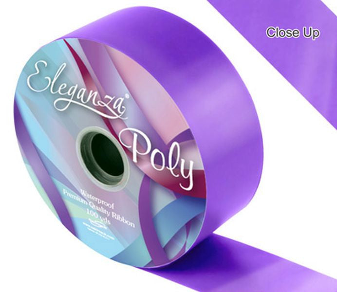 50mm Poly Ribbon - Violet No.37 by Eleganza - 91m (100yds)