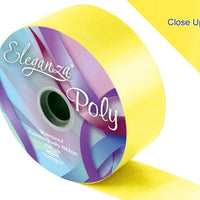 50mm Poly Ribbon - Yellow No.11 by Eleganza - 91m (100yds)