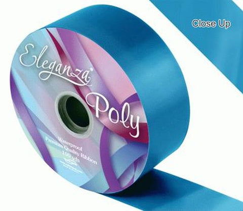 50mm Poly Ribbon - Turquoise No.55 by Eleganza - 91m (100yds)