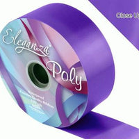 50mm Poly Ribbon - Purple No.36 by Eleganza - 91m (100yds)