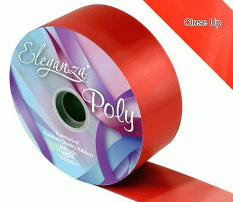50mm Poly Ribbon - Red No.16 by Eleganza - 91m (100yds)