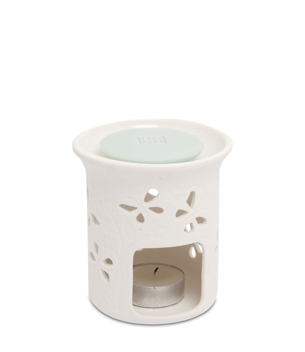 Ceramic Pillar Warmer / Burner (Butterfly) - From Heart and Home