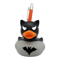 Dark Batman Rubber Holdys Duck, grey - design by LILALU By Lilalu