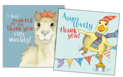 Animal Magic - Thank You Mini Card Pack - Pack of 10 - Emma Ball
