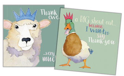 Animal Magic II - Thank You Mini Card Pack - Emma Ball
