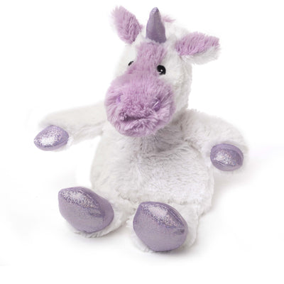 Warmies Plush Sparkly White Unicorn Microwavable