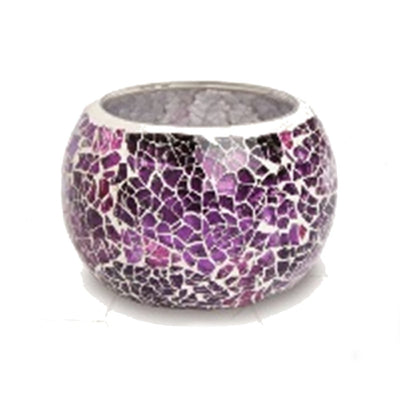 Mulberry Crackle Tealight Bowl From Heart and Home