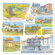 Shropshire Set of 4 Coasters - Emma Ball