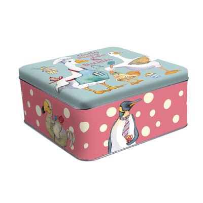 Large Square Tin - Animal Magic - Emma Ball