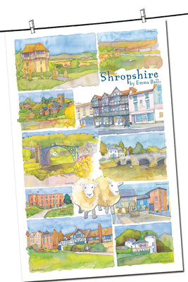 Shropshire Tea Towel - Emma Ball