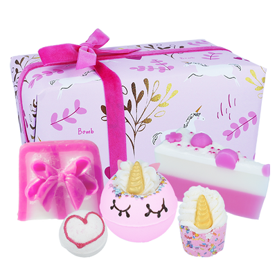 Unicorn Sparkle Gifts - Wrapped from Bomb Cosmetics
