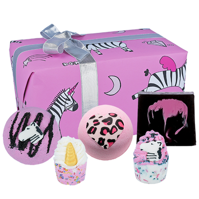 Zebra Crossing Gifts - Wrapped from Bomb Cosmetics