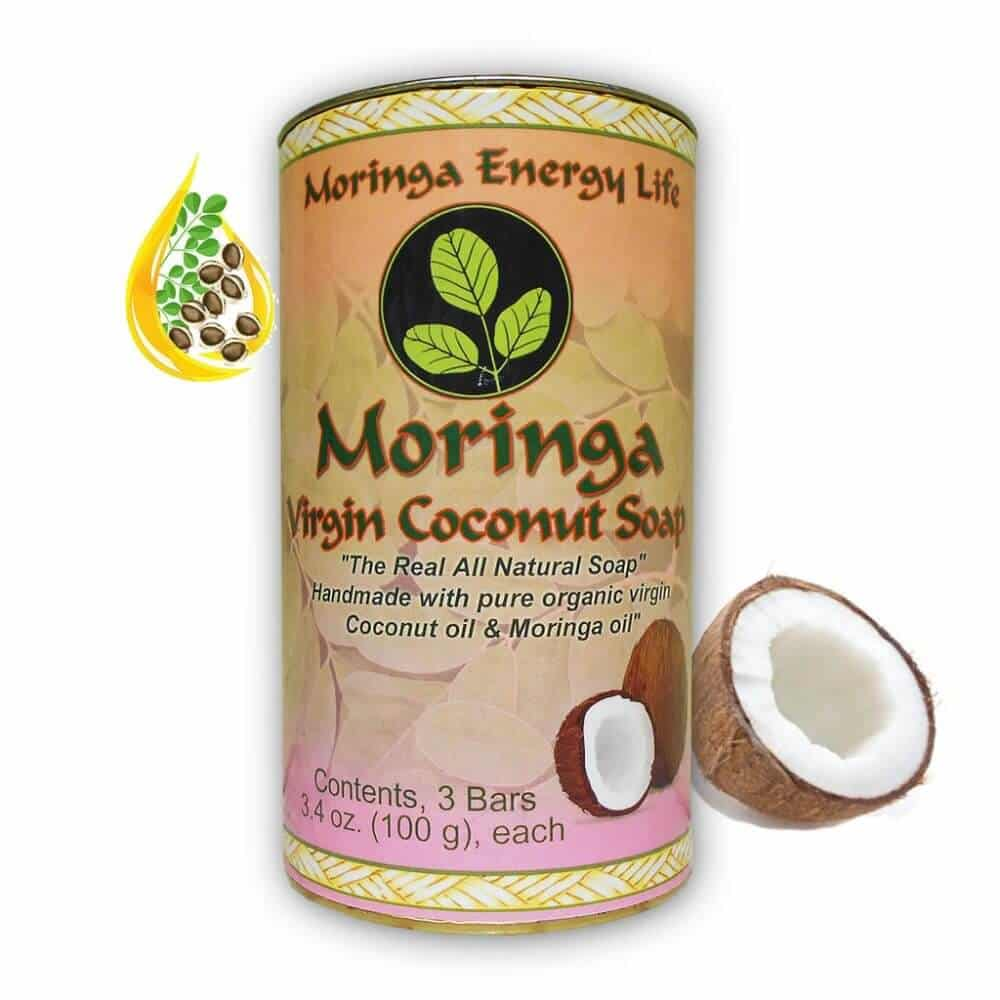 Moringa Coconut Soap (3 pk)