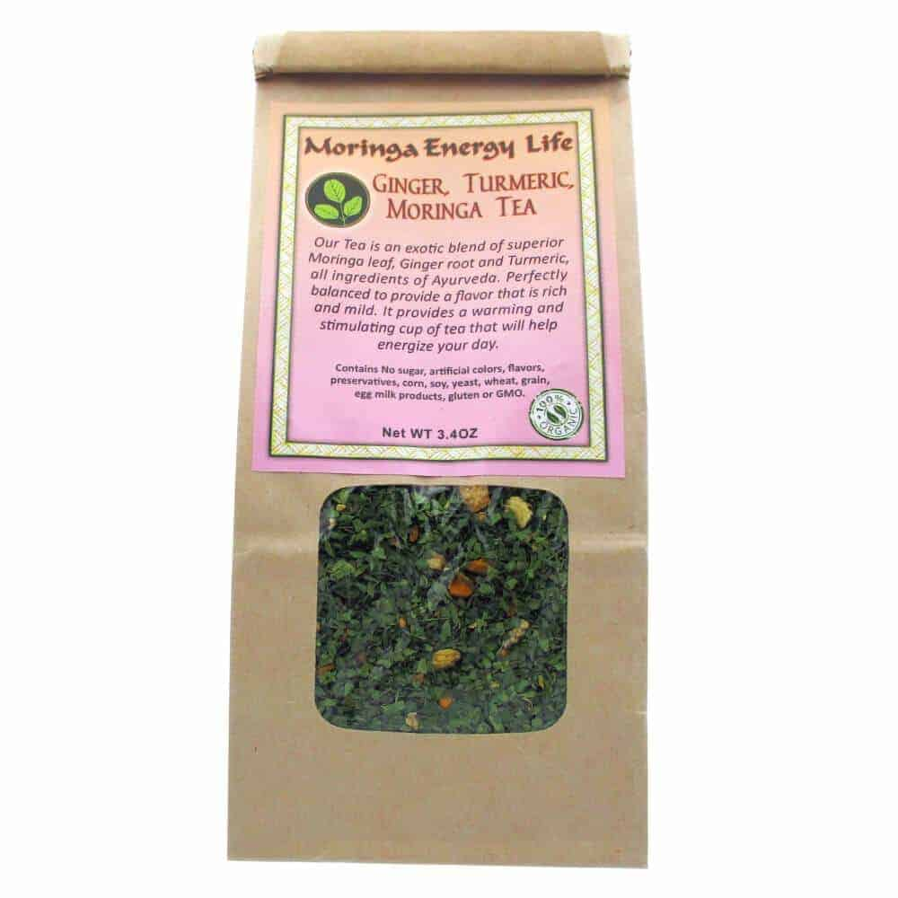Moringa Ginger Turmeric Tea, Loose Leaf 3.4 oz