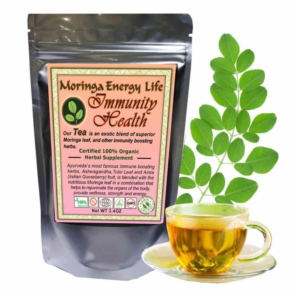 Moringa Immunity Health Tea, Loose Leaf 3.4 oz