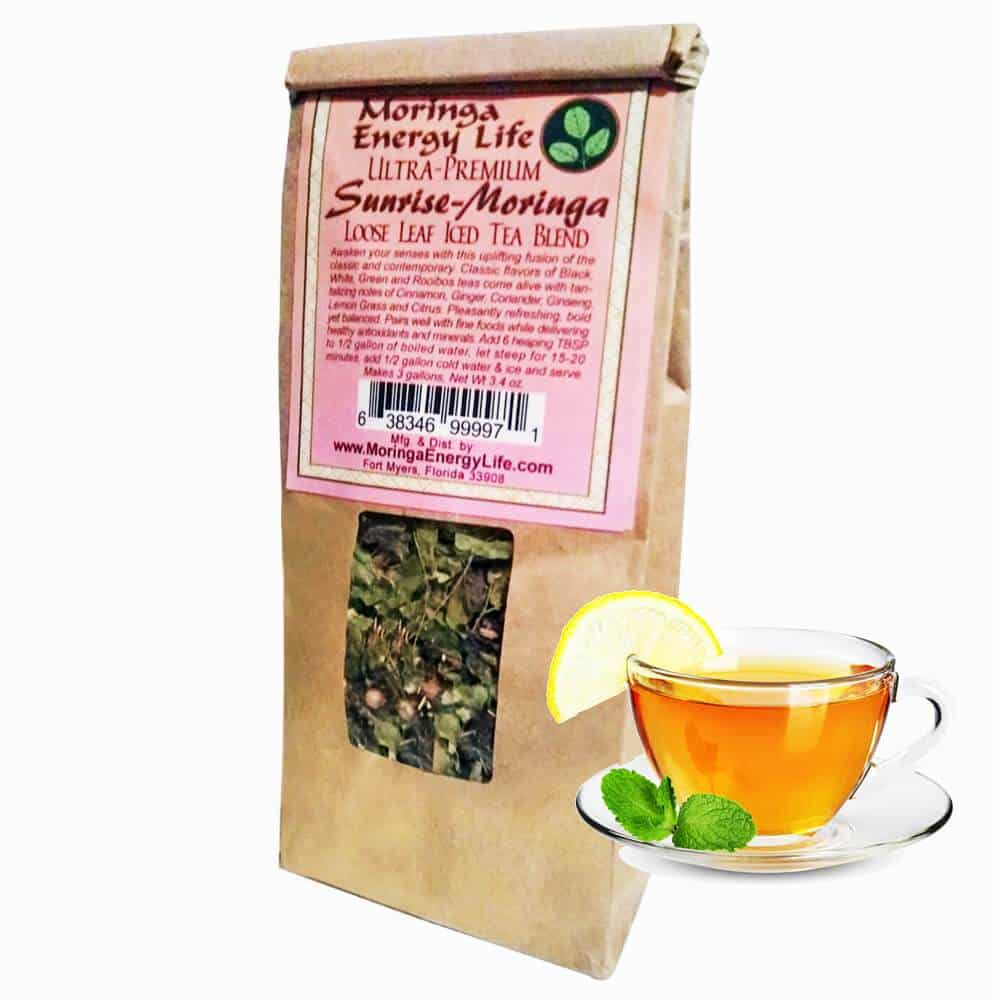 Moringa Ultra-Premium Iced Tea Sunrise-Moringa Blend (Loose leaf)