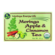 Load image into Gallery viewer, USDA Organic Moringa  & Apple Cinnamon Tea