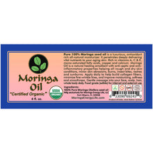 Load image into Gallery viewer, Organic Moringa Oil USDA Pure 4 oz