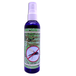 Organic Insect Repellent - 4 oz, All Natural Spray for Bugs, Noseeum, Mosquito, Flies, Deep Woods and Outdoors Use, With Essential Oils.