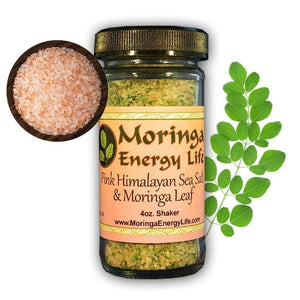 Pink Himalayan Sea Salt with Moringa Leaf Shaker