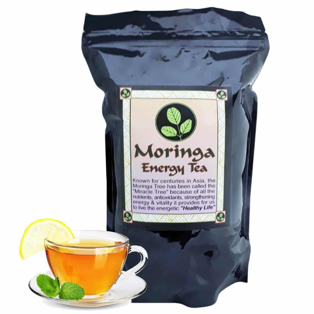 USDA Organic Moringa Energy Loose Leaf Tea (8 oz)